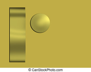 Metallic gold abstract art, illustration - With copyspace