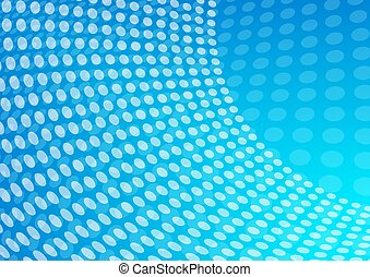 Blue Abstract Dotted Background