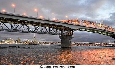 Auckland Harbour Bridge - New Zeala - Auckland Harbor Bridge...