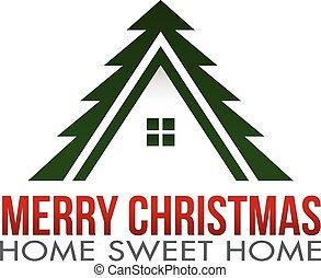 Merry Christmas Home Logo