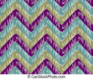 Zigzag striped background. Cold tones. Vector available