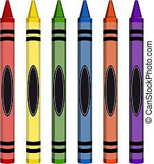 colorido, grande, carboncillos