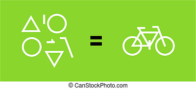 Bicycle as a result of geometric shapes - Different...