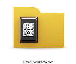 Folder with a combination lock