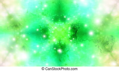 Green Particle VJ Abstract Loop