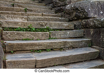 Stone Steps - stone steps at Newfound Gap in the Blue Ridge...