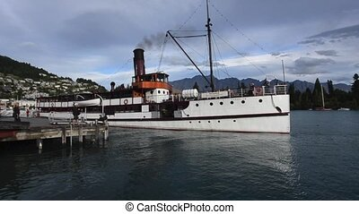 Queenstown NZ 03 - QUEENSTOWN, NZ - JAN 15:TSS Earnslaw on...