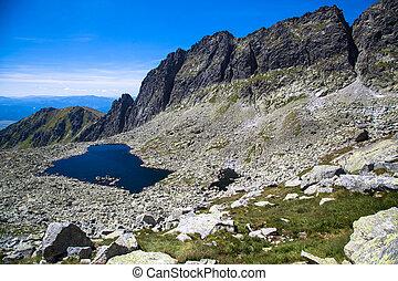 Tarn - Wahlenbergovo pleso - in High Tatras, Slovakia - Tarn...