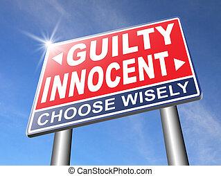 innocent or guilty