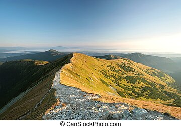 Western Tatra Mountains at dawn - Peak in the Western Tatras...