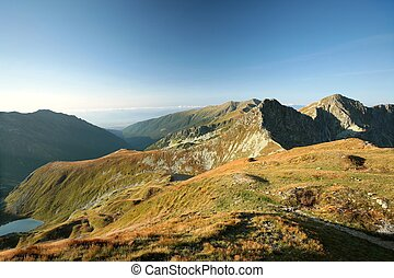 Western Tatra Mountains at dawn - Western Tatras on the...