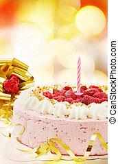 Happy Birthday! - festive raspberry cake