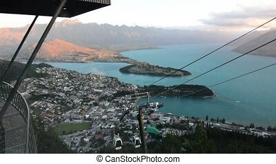 Queenstown NZ 19 - QUEENSTOWN, NZ - JAN 17:Skyline Gondola...
