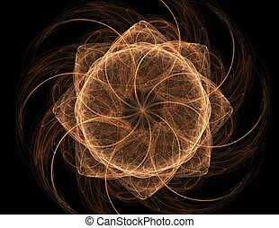fractal radial pattern on the subject of science, technology...