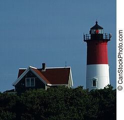 Nauset Beach Light, Cape Cod, MA - Nauset Beach Lighthouse,...
