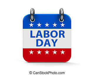 Labor day icon calendar - Labor day calendar icon as...