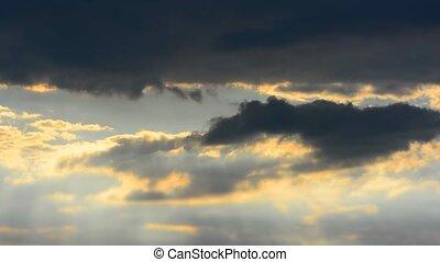 Beams of sunlight, cloud