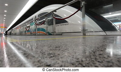 Shanghai Maglev Train - SHANGHAI, CN - MAR 18 2015:Shanghai...
