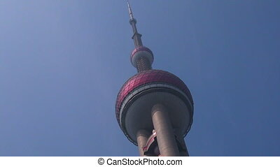 Shanghai Oriental Pearl TV Tower in Shanghai, China.