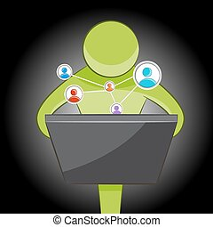 Abstract Social Networking - An image of an abstract person...