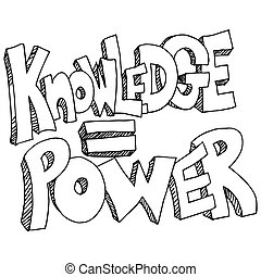 Knowledge Equals Power Background