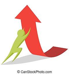 Raising Profits Business Metaphor