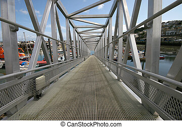 Walkway - This walkway leads to the mooring pontoons in the...
