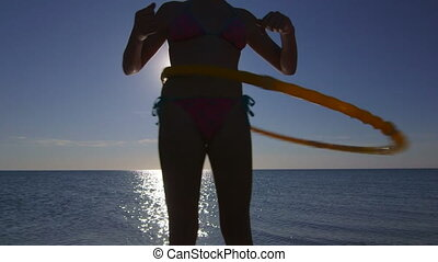 Massage hula hoop fitness exercise