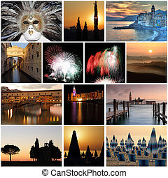 romantic sunset time images from spectacular Italy