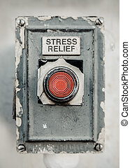Stress Relief Button - Grungy Industrial Style Stress Relief...
