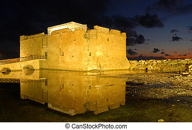 Paphos Castle Cyprus - Paphos Castle late in the evening...