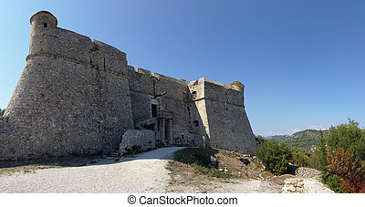 Fort du mont Alban - Panoramic view of the Fort du mont...