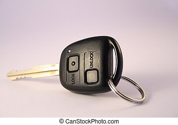 car key - a car key with key ring