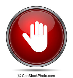 Stop icon Internet button on white background