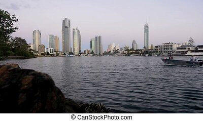 Surfers Paradise Skyline at dusk - SURFERS PARADISE - NOV 10...