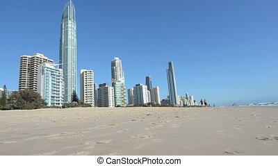Surfers Paradise Skyline in Gold Coast Queensland, Australia...