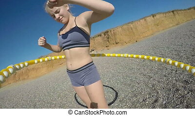 Massage hula hoop fitness exercise abdominal workout
