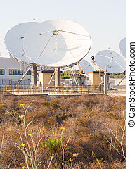 teleport satellite communications Group of antennas in...