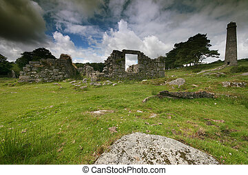 Ruins at Powder Mills Dartmoor - These ruined buildings form...