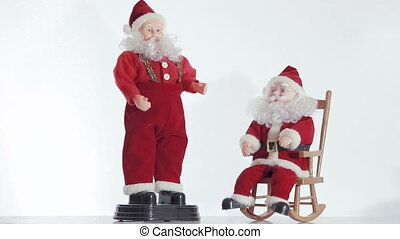 Two of Santa Claus in Christmas