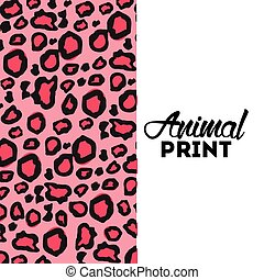 animal print design, vector illustration eps10 graphic