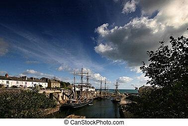 Tallships at Charlestown harbour Cornwall - Charlestown...