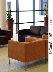 office furniture - a set of office furniture near windows