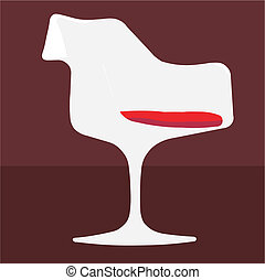 chair tulip vector illustration