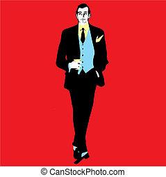 Elegance man - Man vector illustration