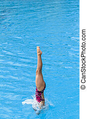 Aquatic Pool Diving Water Entry - Aquatic Pool Diving girl...