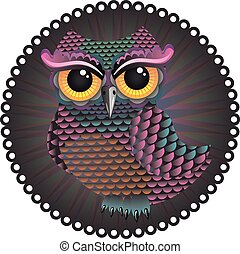 Abstract Owl - Cute cartoon owl illustration