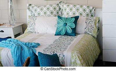 Bedroom. - Bedroom in a modern house - home interiors.