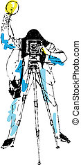 Photographer  - Vector illustration Worker