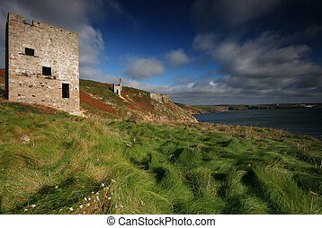 Wheal Trewavas looking towards Porthleven Cornwall UK - The...